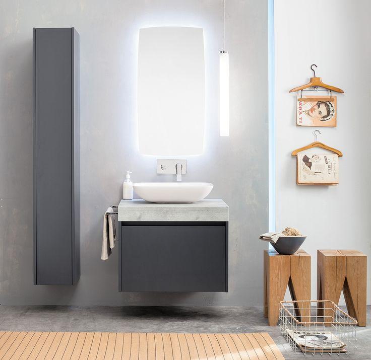 Oltre 25 fantastiche idee su bagni grigi su pinterest arredo bagno di servizio colori per - Bagno piccole dimensioni ...