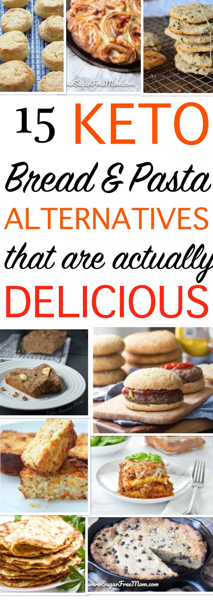 These keto bread, pasta, pancakes and cookie alternatives taste amazing. It's great that there are so many tasty low carb high fat recipes for fast weight loss. #keto #ketobread #ketopasta #ketopancakes #ketogenic #diet #loseweightfast #lowcarb #ketosnacks #ketocookies