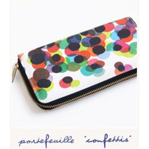 Porte-feuille Confettis par Colourbox - Bird on the wire