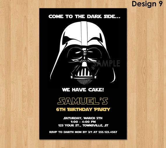 25 best ideas about Invitation star wars – Star Wars Party Invitation