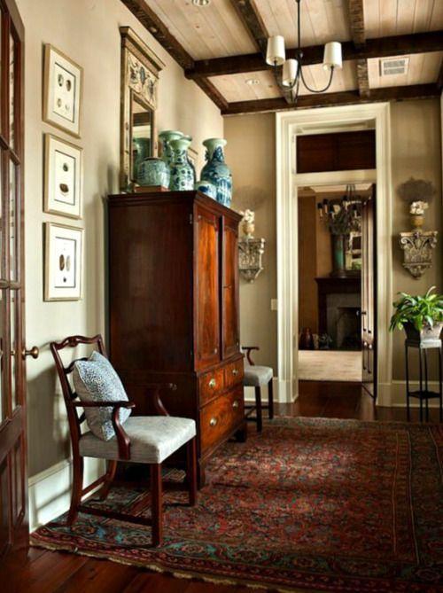 Splendor in the English Country Foyer
