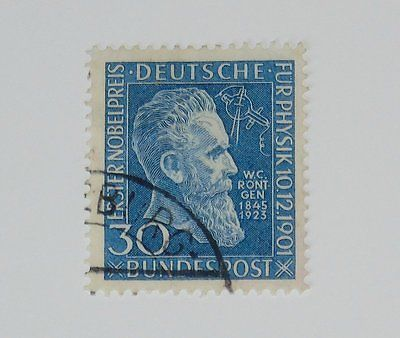 Stamp Pickers Germany 1951 W. K. Roentgen 30pf Scott #B686 VFU $21