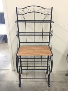 Microwave Stands With Storage New Stand Or Bakers Rack Shelves Wine Holders