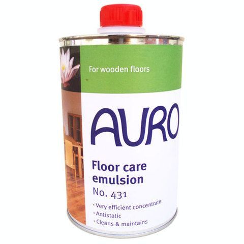 Take care of your natural waxed floors by washing with Auro 431 which slightly rewaxes and repairs the surface finish