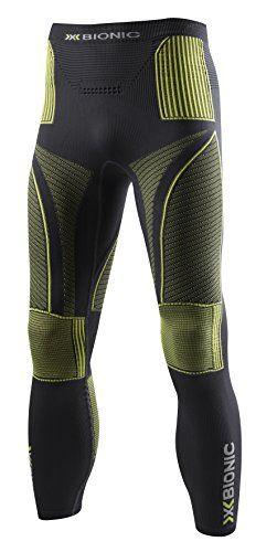 X-Bionic Evo Pant Base Layer Leggings Small/Medium Charcoal Yellow.