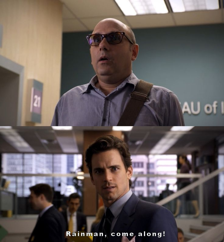 White Collar- Mozzie in terror as he enters the FBI headquarters. .. Haha :)