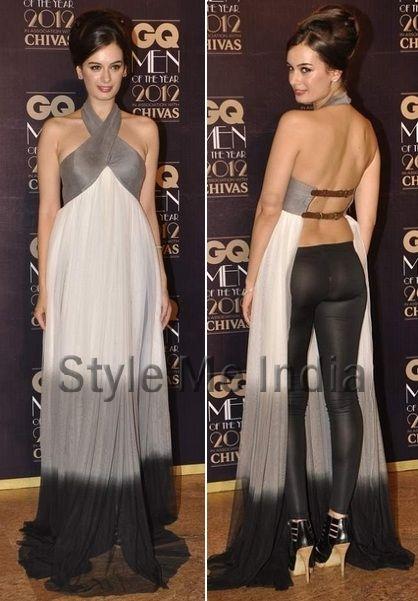 Indian-German Actor-Model Evelyn Sharma in Nikhil Thampi http://www.facebook.com/nikhil.thampi at GQ India Men of the Year Awards 2012