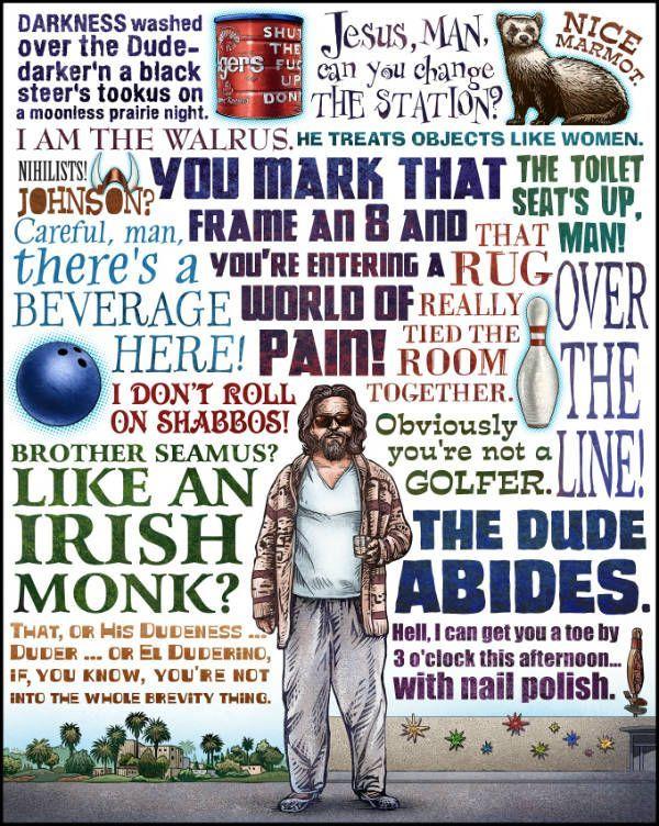 the big lebowski- Coen Brothers Film Posters - Neatorama