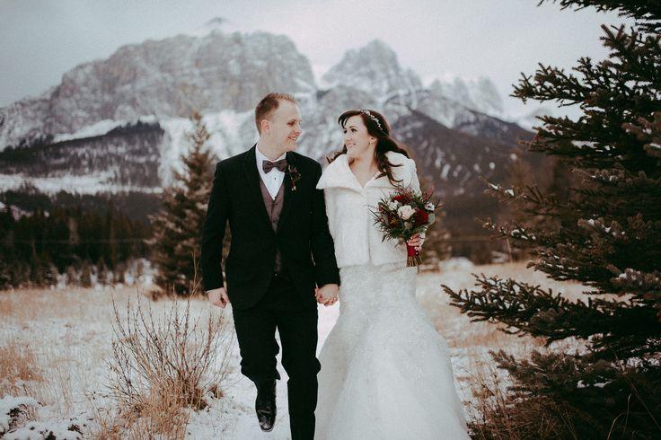 Adventurous Winter Mountain Wedding  #winter #wedding #mountain #bride #groom #adventure #Canada #alberta #canmore #travel #weddingphotographer