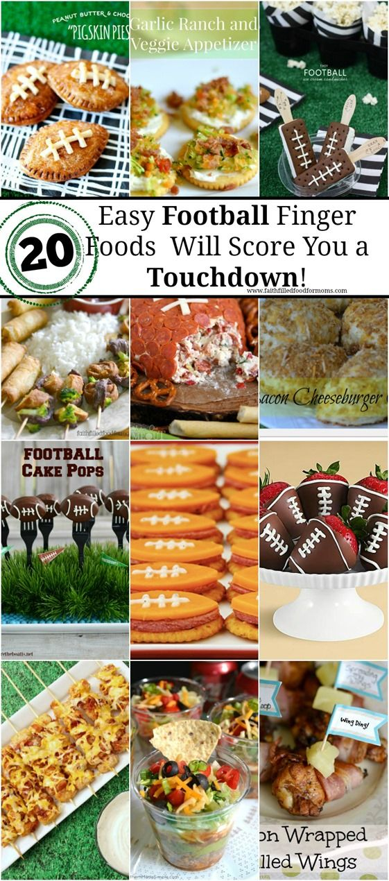 Easy Football Finger Food and Appetizers That Will Score You a Touchdown! These easy recipes will have your company happy and full! Scoring you a definite TD! Not just for football either!