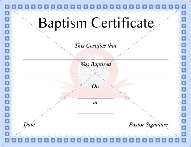 24 best BAPTISM CERTIFICATE TEMPLATES images on Pinterest - life membership certificate template