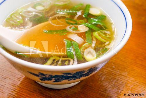 付け合わせの中華スープ