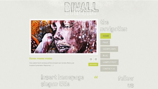 Diwall is a creative WordPress Theme with an unique look and design from Themes4all.