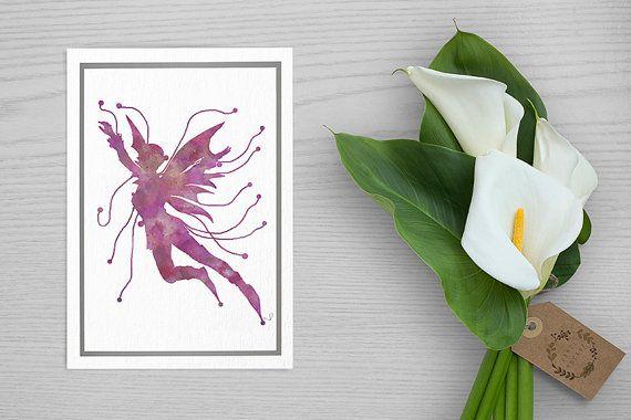 watercolor fairy wall decor Fairy Art Print Fairy Nursery