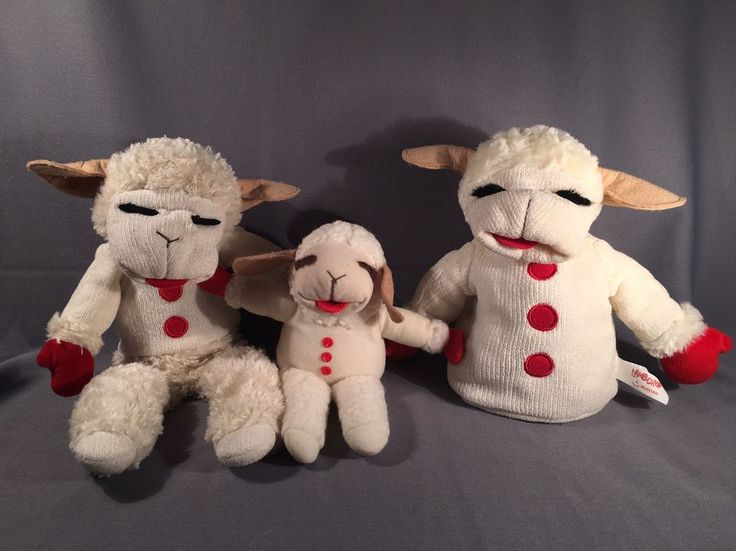 Lamb chop Puppets- Set Of 2 - Full Body And Torso With Bonus Plush!