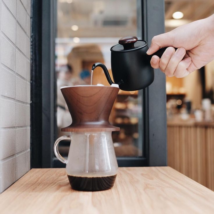Beautiful Miyaco Coffee Pour Over Kettles - inspired by Japanese tea ceremony - now back in stock in stores. www.kurasu.kyoto/insta