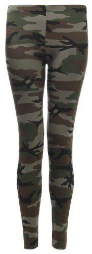 Fast Fashion – Leggings Armée Camouflage Imprimés – Femme (EUR (42-44), Vert): Price:3.7 Fast Fashion – Leggings Armée Camouflage Imprimés…