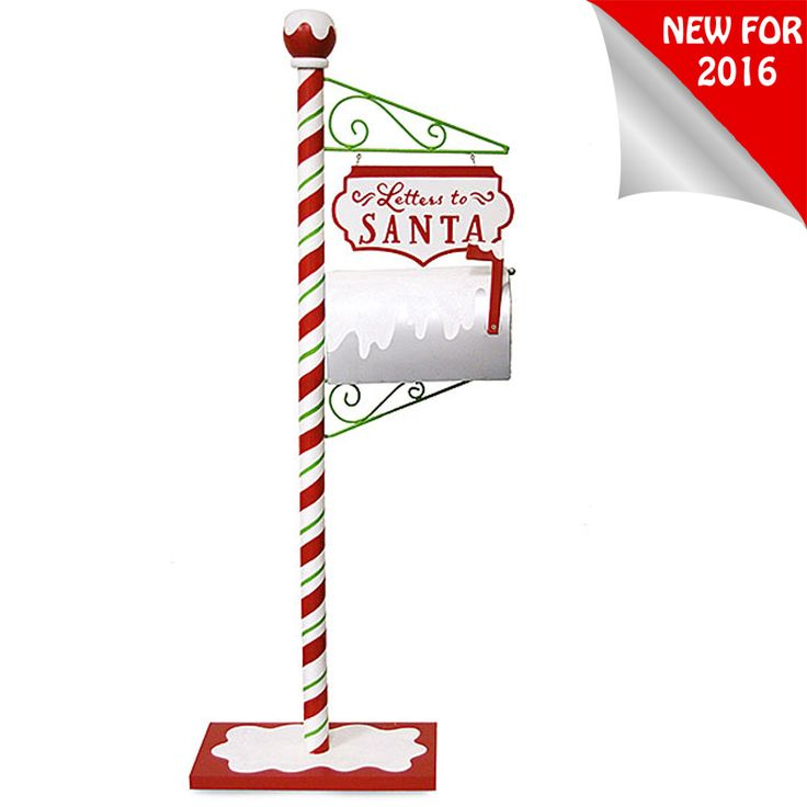 "48"" Letters To Santa Mailbox Standing Christmas Decoration 