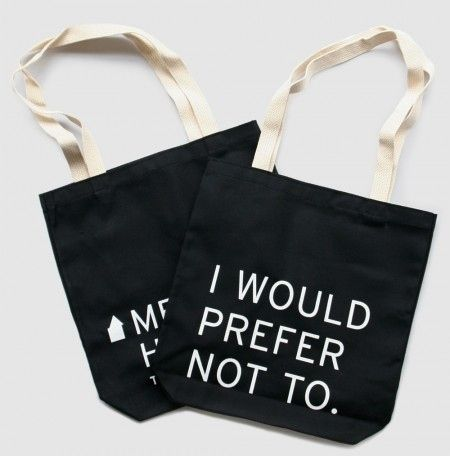 """Bartleby the Scrivener"" Tote 