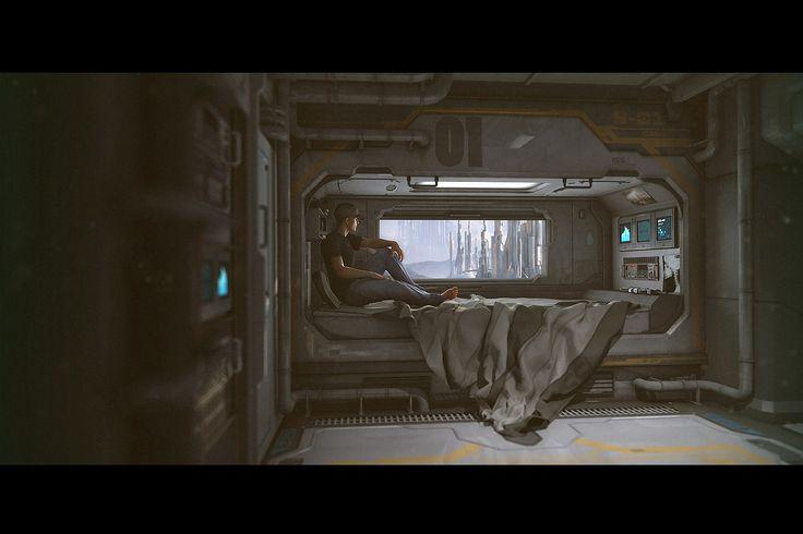 Future bedroom in 3D! http://www.daz3d.com/new-releases/sci-fi-bedroom?cjref=1