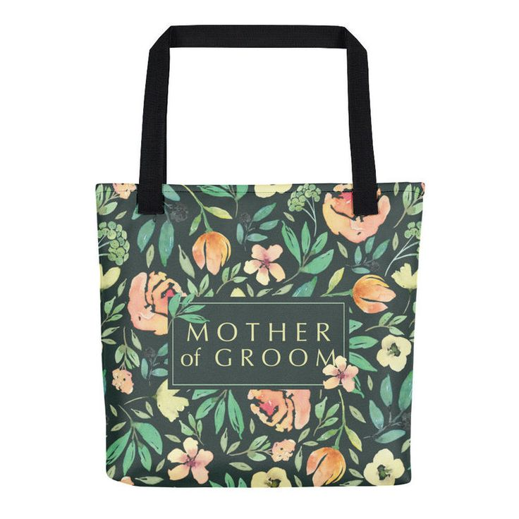 Italian Garden Mother Of The Groom Gift Tote - Can't you just see the look on your future mother-in-law's face when she opens your beautiful Mother of the Groom gift tote bag? This beauty is from ourItalian Garden Collection, where you can find gorgeous totes for all the girls in the wedding party. #motherofgroomgifts #bridalpartygifts #totebag