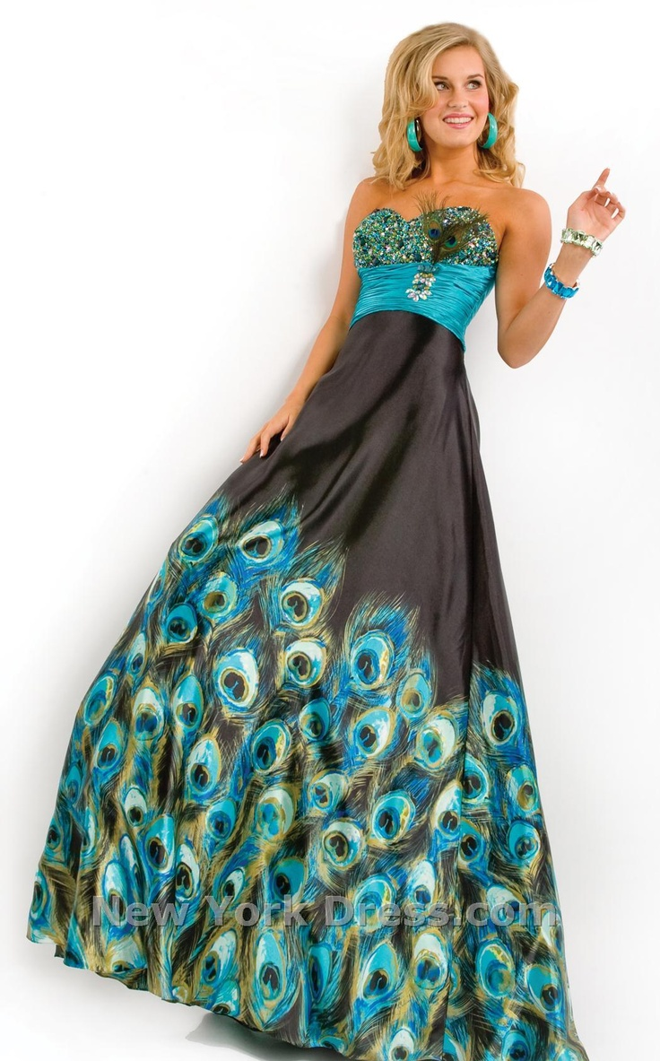 Peacock Party Dress I Wanna See Your Peacock Pinterest