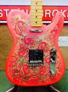 *SOLD* Fender Telecaster TL69 PRD 'Paisley' Guitar Crafted In Japan Second-Hand CIJ Fender Telecaster with Paisley design. Including gig bag. Two small paint splits both sides where the neck joins the body, as shown in pictures. Also some small knocks and chips on the edge of the body as shown in another picture. Maple One Piece Neck  2x TL Vintage Japanese pickups  Basswood Body  1 Volume & 1 Tone Control & 3 Way Pickup Switch
