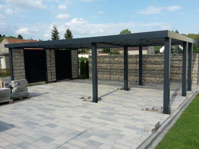 carport design trends ideen gabione gestaltung architektur moderne h user und geb ude. Black Bedroom Furniture Sets. Home Design Ideas