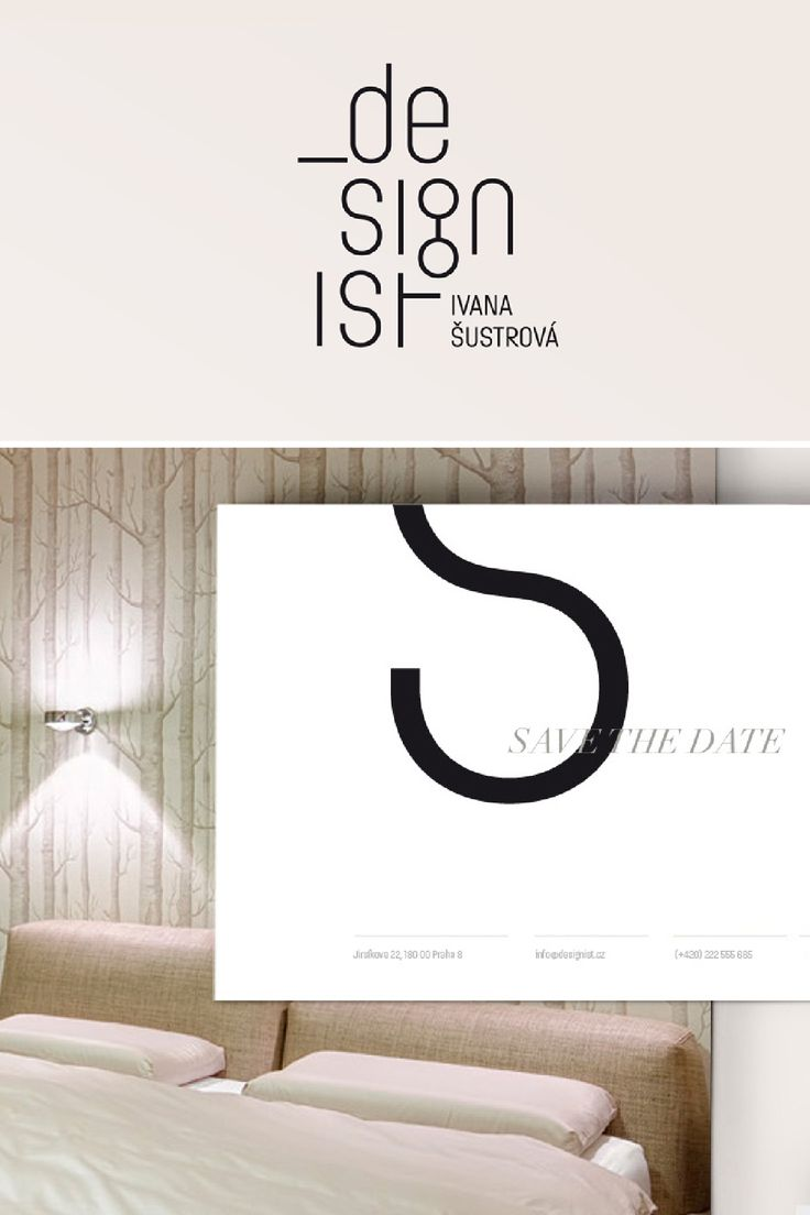 Corporate identity for interior design studio. logo, graphic design  http://grafika.evachudomelova.cz/designist_ivana-sustrova_interier_design/