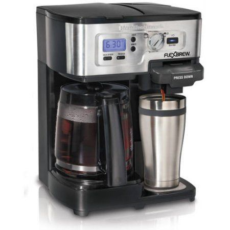 Hamilton Beach 12-Cup 2-Way FlexBrew Coffee Maker, 49983, Silver/Black - Walmart.com