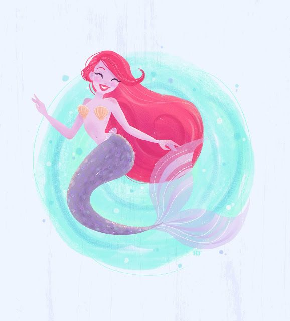 Heather Burns Illustration: Lovely Lilac Mermaid