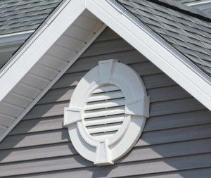 gable vents are near the peak of the roof, allowing warm & humid air to be replaced with cooler, dry air