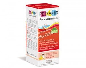 Sirop Pediakid Fer & Vitamines B - Dès 6 mois, 125 ml