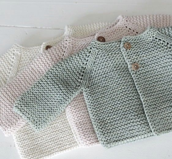 Petersson organic cotton hand knit baby cardigan