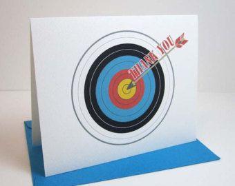 Archery Thank You Card