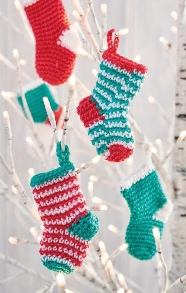 a4c5957a0 Find out how to make a Mini Christmas Stockings with this free crochet  pattern from Top Crochet Patterns