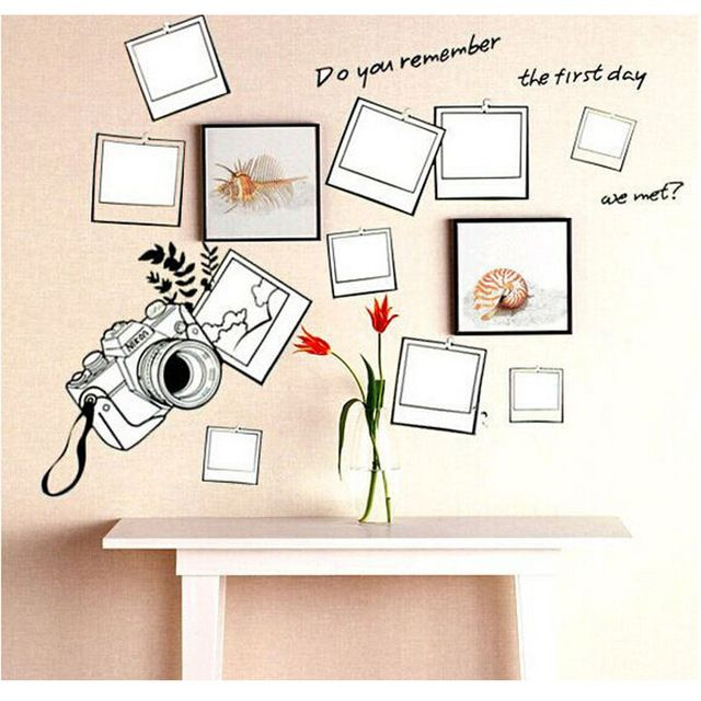 Check current price adesivo de parede DIY Classic Photo Frame And Camera  wall Stickers Home Decor  For Living Room  Decals  Mural Wallpapers just only $3.47 with free shipping worldwide  #wallstickers Plese click on picture to see our special price for you