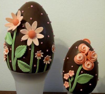 ovos decorados com flores de açucar