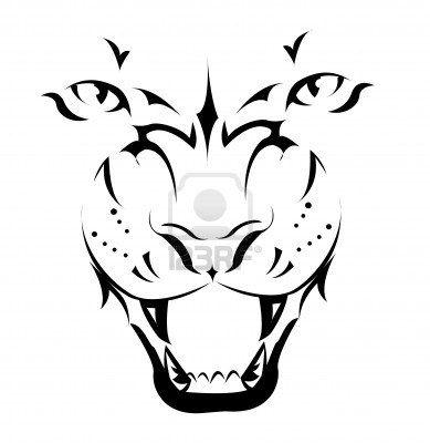 Tiger, Tattoo  Stock Photo