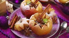 Receta de Manzanas asadas rellenas de nueces y pasas