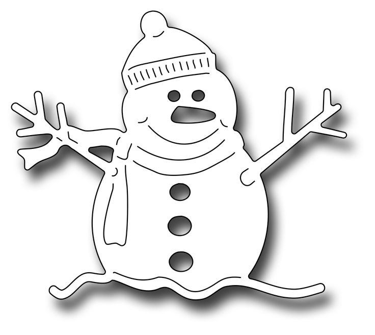 Frantic Stamper Precision Die - Oliver The Snowman