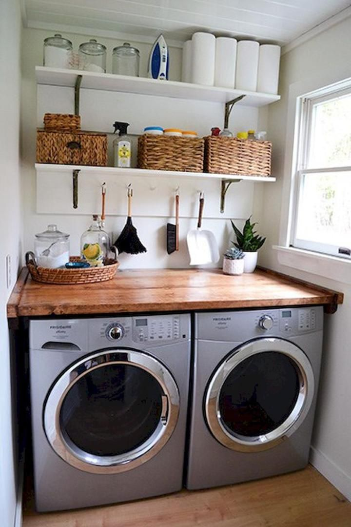 Best 32 Laundry Room Shelf With Hanging Rod Laundry Room Diy