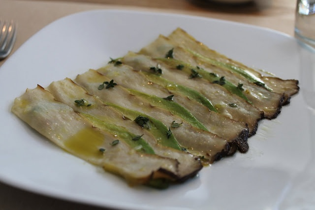 Perry St - King Oyster Mushroom & Carpaccio