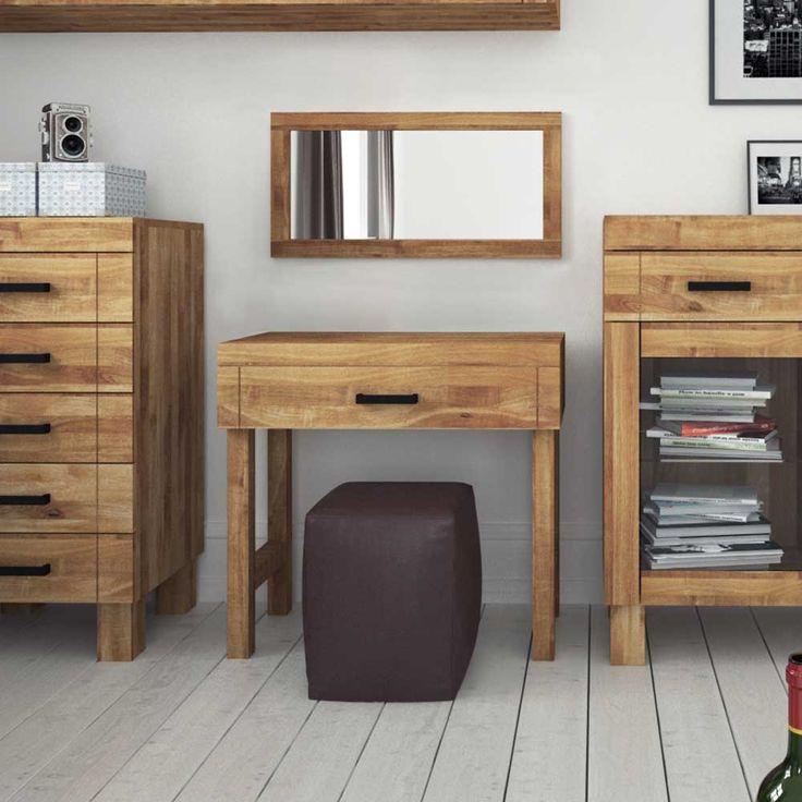 Superb Schlafzimmerm bel Set aus Wildeiche Massivholz natur ge lt teilig Jetzt bestellen unter