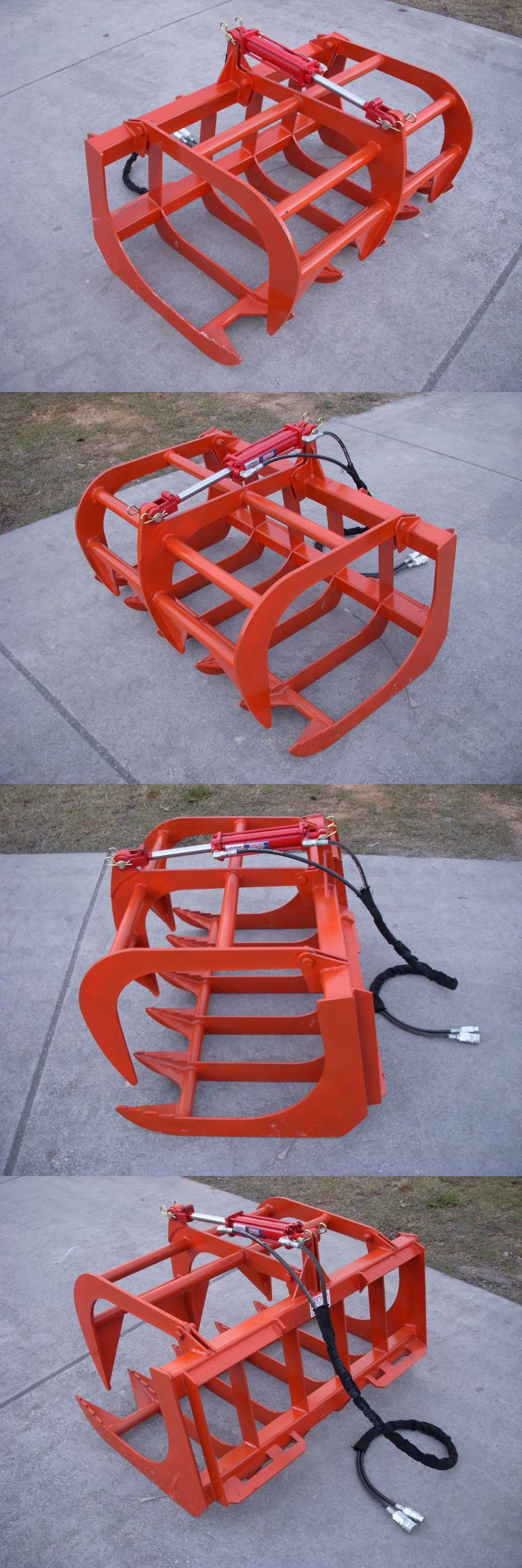 heavy equipment: Kubota Compact Tractor Attachment - 48 Root Rake Grapple Bucket - Free Shipping BUY IT NOW ONLY: $895.0