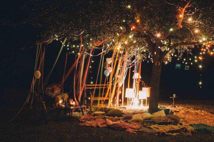 Feliz cumpleaños en magnífico estilo boho Ve más ideas boho chic en Ideas De Eventos