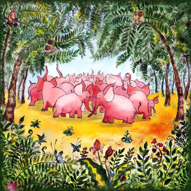 When the elephants were pink 1