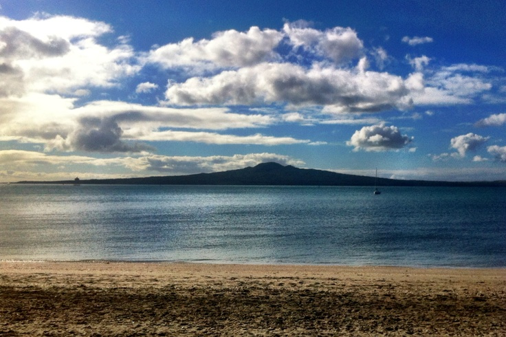 Rangitoto Island from Mission Bay, Auckland