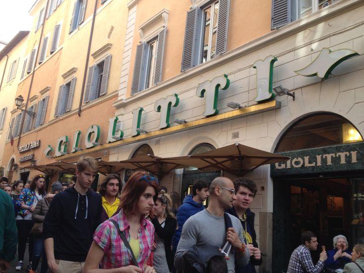 "Giolitti, gelateria, Roma, always ""flaborable"""