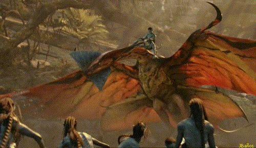 Jake Sully y su montura leonopteryx - Avatar